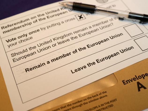 """Voters will decide on the """"Brexit"""" question in a June 23 referendum. Postal voting forms are available ahead of time."""