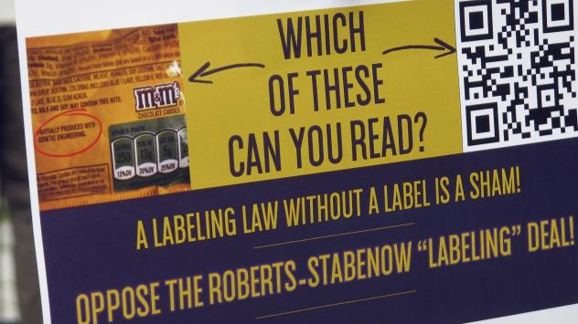The Senate on Thursday approved a measure that would require food companies to disclose GMOs — but without necessarily using a GMO label on packaging. Companies would have several disclosure options, including using a QR code on packaging that customer