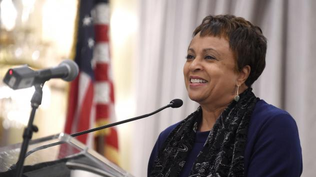 Carla Hayden, shown in 2015, was confirmed by the Senate on Wednesday to head the Library of Congress. Hayden is the longtime leader of Baltimore's library system.