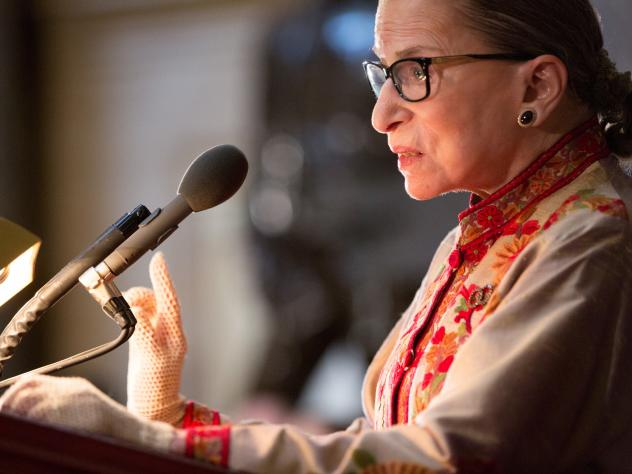"""Supreme Court Justice Ruth Bader Ginsburg says she regrets calling Donald Trump a """"faker"""" and making other disparaging remarks about the candidate."""