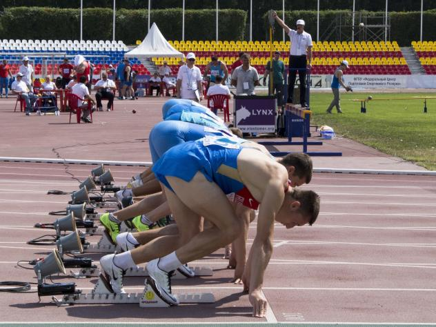 Russian athletes compete at track and field championships in Cheboksary on June 20. The International Olympic Committee has banned Russia's track and field team from the Summer Games for pervasive doping violations. The IOC on Tuesday put off a final dec