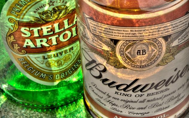 A 12-oz bottle of Stella Artois contains 150 calories whereas a bottle of Budweiser Select, only 120.