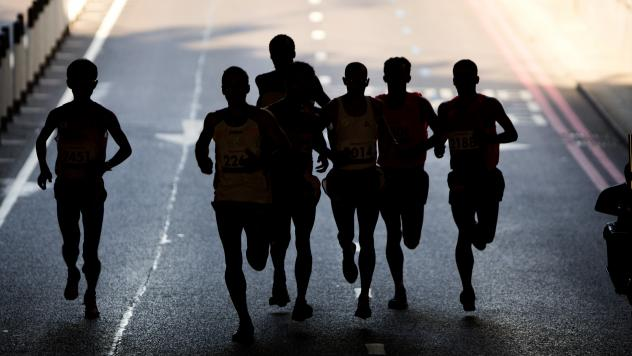Runners compete in the marathon at the 2012 Paralympics in London. The International Paralympic Committee said Friday it is investigating reports of widespread doping among Russia's disabled athletes and is considering banning the entire Russian team fro
