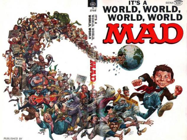 Jack Davis created this parody of <em>High Noon</em> for <em>Mad</em> magazine; Davis, a founding cartoonist for <em>Mad</em>, has died at age 91.