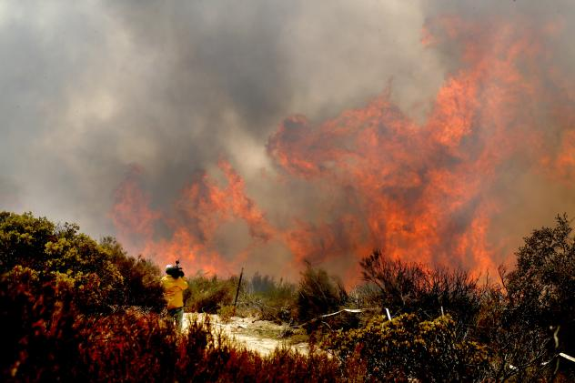 Fire crews made significant progress Wednesday in containing the Pilot Fire in California's San Bernardino Mountains. It's one of three major fires currently burning in the state.