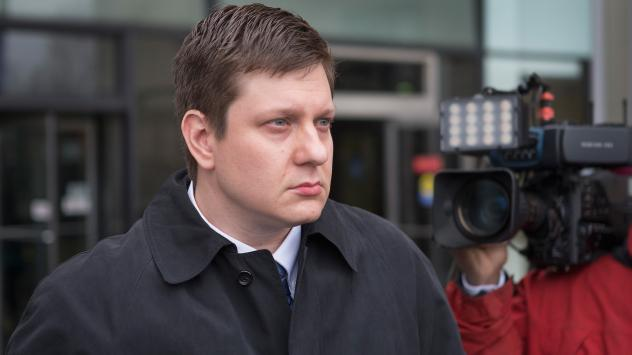 Chicago police officer Jason Van Dyke leaves the Criminal Courts Building after pleading not guilty to first-degree murder charges related to the shooting death of 17-year-old Laquan McDonald on December 29, 2015, in Chicago. The police superintendent is
