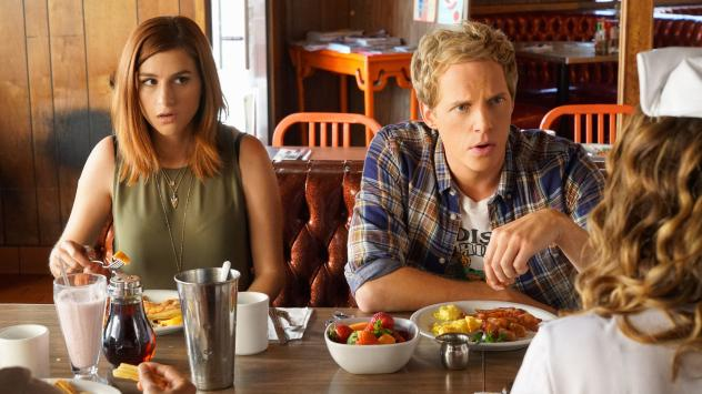 Gretchen (Aya Cash) and Jimmy (Chris Geere) in <em>You're The Worst</em>.