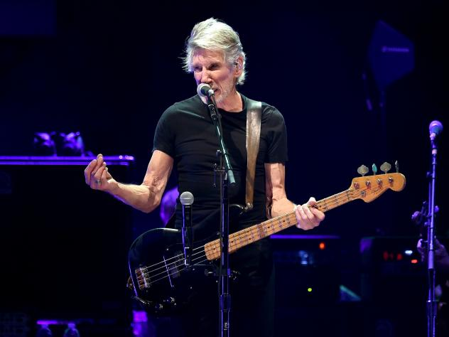 Roger Waters performs onstage during Desert Trip at the Empire Polo Field on October 9, 2016 in Indio, Calif.