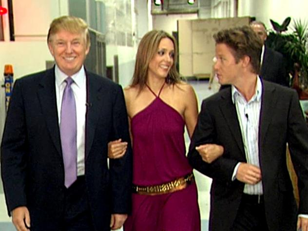 A leaked video showed Donald Trump (pictured with 'Days of Our Lives' actress Arianne Zucker and then-Access Hollywood co-host Billy Bush) bragging about groping women.