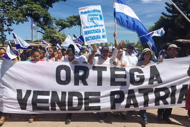 Berta Aguilar lives in a modest cinder block house near Managua's airport. Ortega has long won support among the poor by providing assistance, much of it coming from Venezuela.