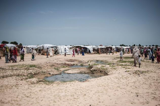 This camp near Maiduguri, Borno State, in northeastern Nigeria houses more than 16,000 displaced persons.