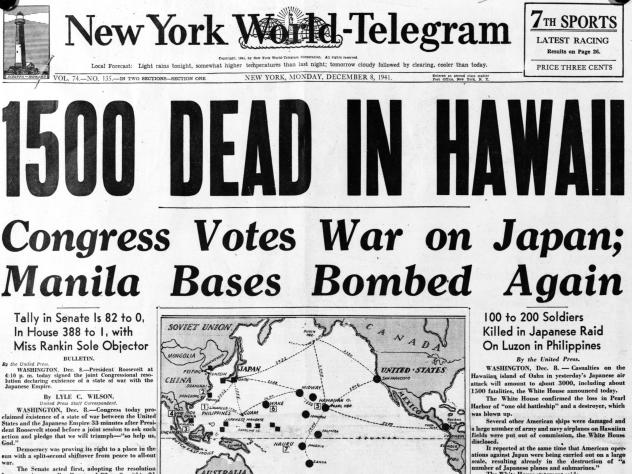 """President Franklin Roosevelt was """"totally caught off guard"""" by the bombing of Pearl Harbor, says Roosevelt biographer Jean Edward Smith."""