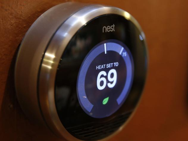 The Nest thermostat is an Internet-connected device. Security technologist Bruce Schneier says that while Internet-enabled devices have immense promise, they are vulnerable to hacking.