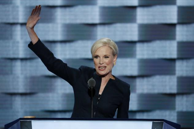 Planned Parenthood's president, Cecile Richards, addresses the Democratic National Convention in July. Republicans in Congress have repeatedly threatened to cut off federal funding for Planned Parenthood because the family planning group performs abortio