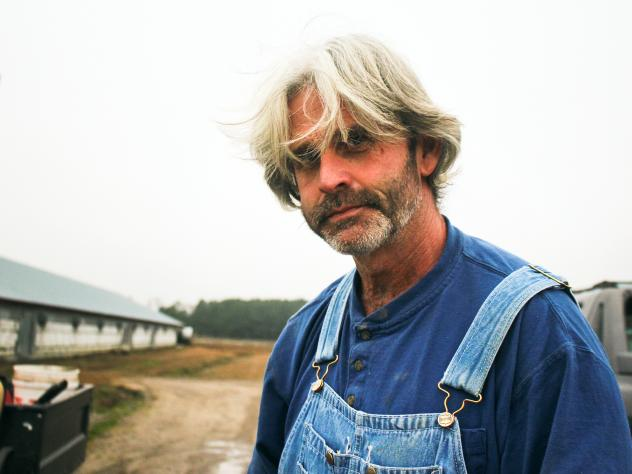 Craig Watts produces chickens for Perdue on his farm in Fairmont, N.C. He's been one of the most vocal critics of the contract farming system.