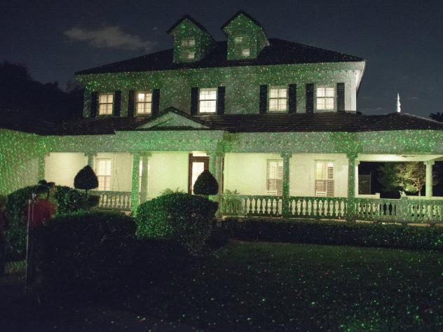 Mark DeSomma's house, elaborately decorated with old-fashioned string lights, is the draw of the neighborhood in Fair Lawn, N.J.