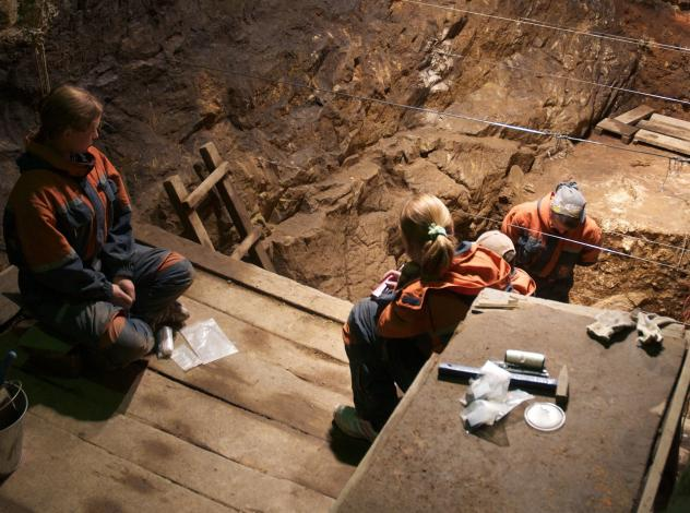 Researchers from the Max Planck Institute excavate the East Gallery of Denisova Cave in Siberia in August 2010. With ancient bone fragments so hard to come by, being able to successfully filter dirt for the DNA of extinct human ancestors can open new doo