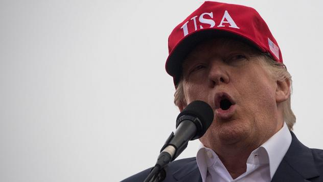 """President-elect Donald Trump addresses a """"Thank You Tour 2016"""" rally last month in Mobile, Ala."""