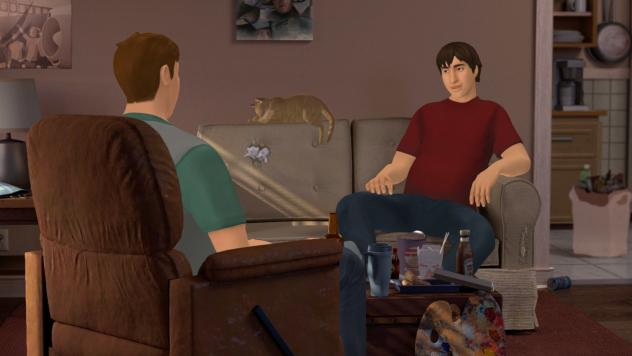 In the game, you play Jesse, who visits his friend Travis and learns that Travis is failing his classes at school, drinking alcohol, and no longer finds fulfillment in painting.