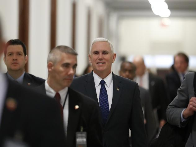 Pence retweets Trump, using language more typical of a politician.