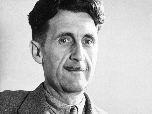 Writer George Orwell, author of the novel <em>1984</em>, which portrays a dictatorship that imposes its own facts.