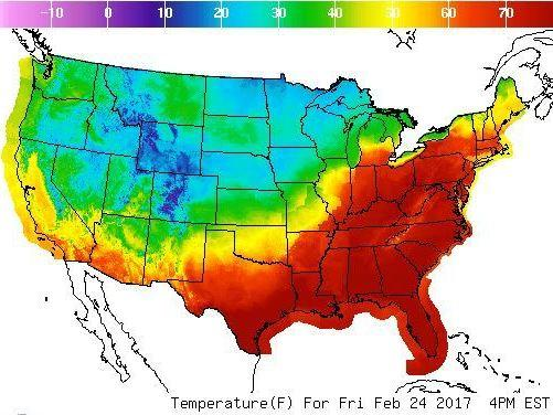 71 degrees in february  temperatures in boston and buffalo