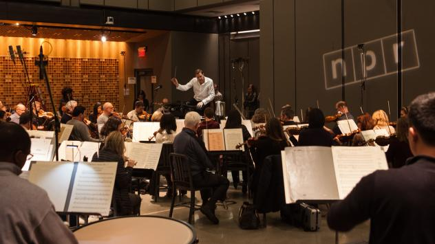 The National Symphony Orchestra plays in Studio 1 at NPR headquarters.