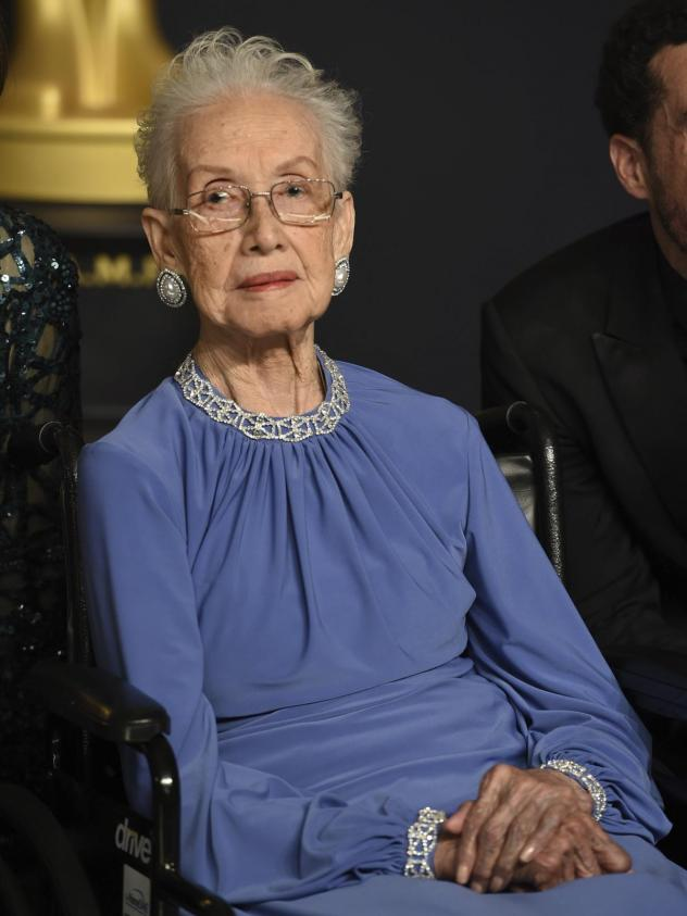 NASA mathematician Katherine Johnson, pictured at the 2017 Academy Awards, was one of the women profiled in the book and film <em>Hidden Figures</em>. She died Monday at 101.