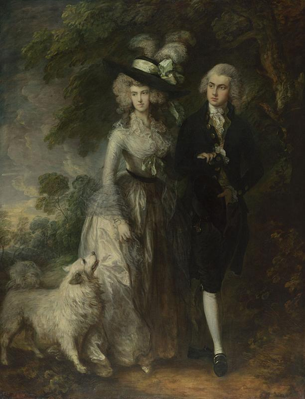 Thomas Gainsborough's 1785 painting <em>Mr and Mrs William Hallett (The Morning Walk) </em>was attacked at The National Gallery in London on Saturday.