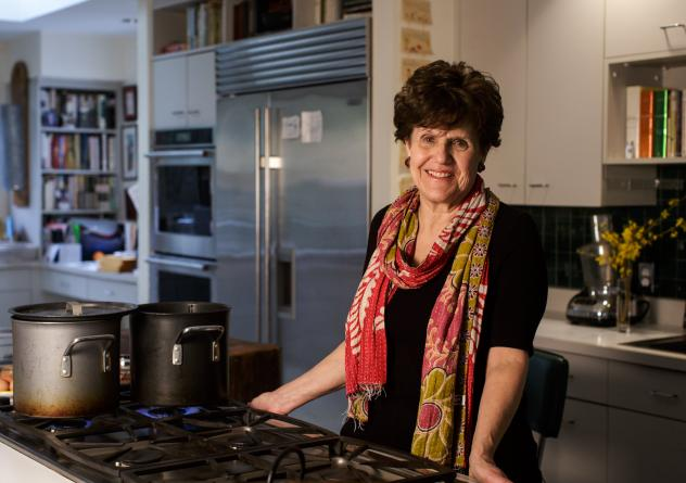 Joan Nathan's recipe for hard-boiled eggs with spinach originated in Greece.