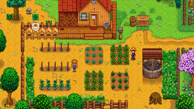 <em></em>Life in 16 bits — complete with chickens and monsters — in Stardew Valley.