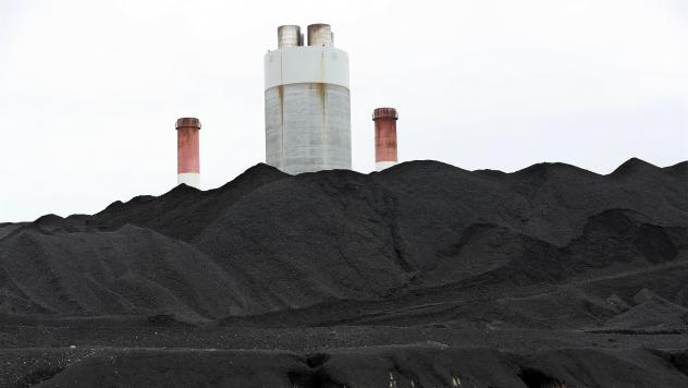 Coal is piled up at the Gallatin Fossil Plant in Gallatin, Tenn.