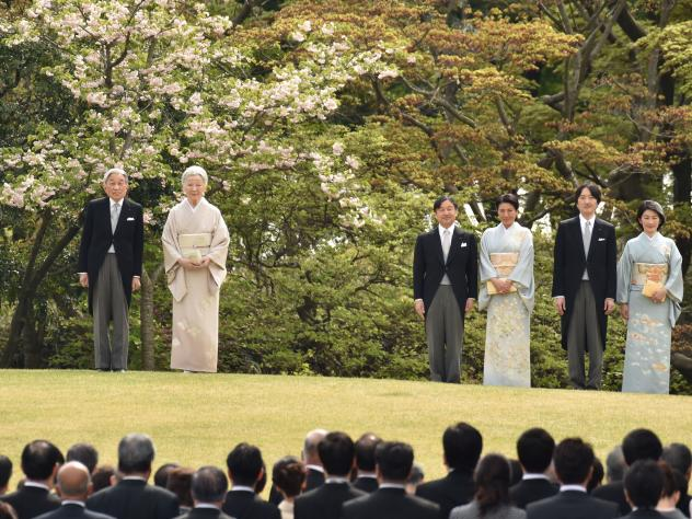 Japan's Cabinet has moved to allow Emperor Akihito to abdicate the throne — an event which hasn't happened in 200 years. Akihito (left) and Empress Michiko appeared with members of the royal family at the spring garden party at the Akasaka Palace imper