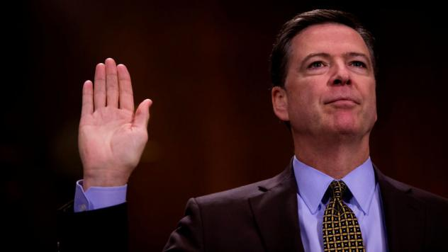 Then-FBI Director James Comey testified in front of the Senate Judiciary Committee during an oversight hearing on the FBI on May 3.