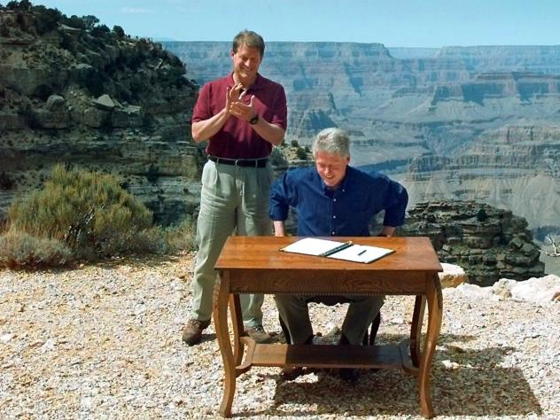 The federal review of the Grand Staircase-Escalante, with its hiking attraction the Calf Creek Falls, and other national monuments may lie with the interpretation of a president's authority under the 1906 Antiquities Act.