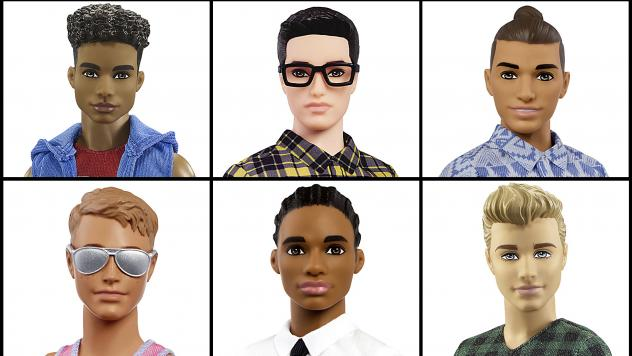 """The """"broad""""-bodied Ken is part of a new line of the dolls Mattel rolled out Tuesday. The updated Ken dolls will have a variety of skin tones, body shapes and hair styles."""