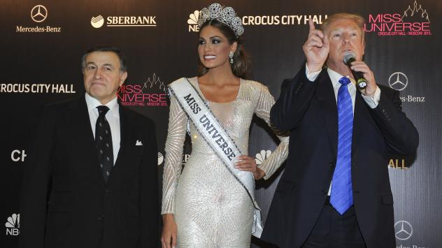 "Trump would stay on good terms with the Agalarov family after the pageant, appearing in a <a href=""https://www.youtube.com/watch?v=iuZUNjFsgS8"">music video</a> with Emin and sending him a videotaped greeting on his 35th birthday."