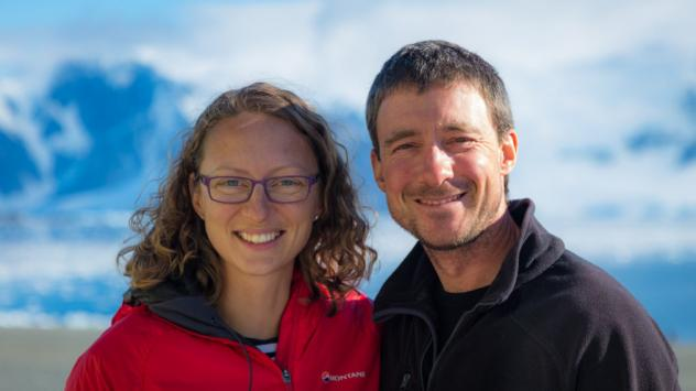 Polar field guides Julie Baum and Tom Sylvester got married in the British Antarctic Territory this weekend.