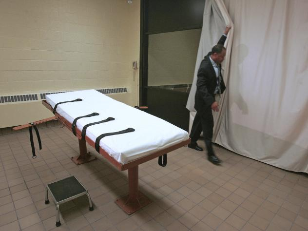 Inmate Ronald Phillips was executed at the Southern Ohio Correctional Facility in Lucasville, Ohio, on Wednesday morning. Above, the prison's death chamber in 2005.