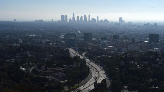 A morning view of downtown Los Angeles from the Hollywood Bowl Overlook in January. The city will be hosting the Summer Olympics in 2028.
