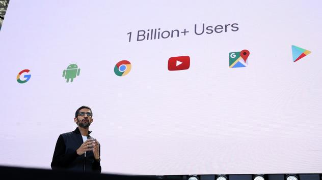 Google CEO Sundar Pichai delivers the keynote address at the Google I/O 2017 Conference at Shoreline Amphitheater on May 17 in Mountain View, Calif. Google's new tool for tracking how online ads connect to in-person sales has been criticized by a privacy