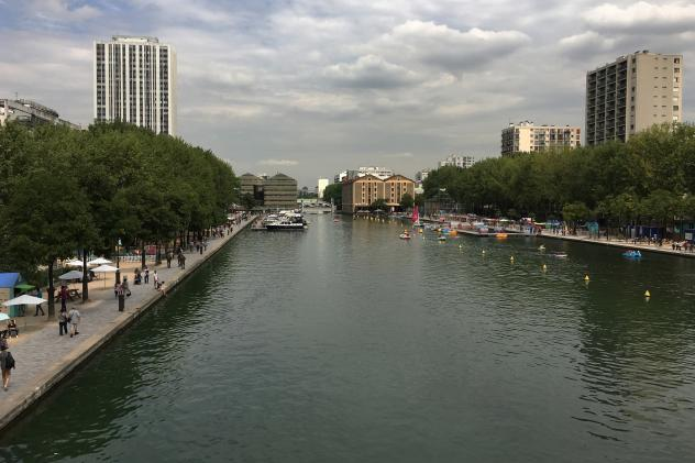 The Paris municipality opened the Canal De L'Ourcq to swimmers this summer. Municipal officials cleaned the canal to make it safe for swimmers. Canals are often repositories for trash; toilet bowls, suitcases, bikes and even a car were dumped into anothe