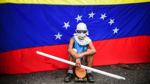 Opposition activists hold a fiery demonstration against the constituent assembly in Caracas on Friday, the day the legislative superbody was inaugurated. Onlookers fear the prospect of escalating violence as opposition activists' alternatives continue to