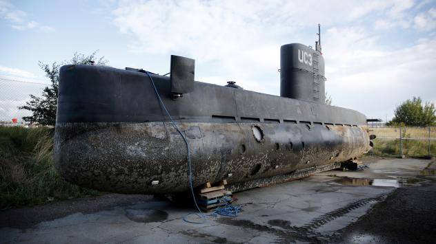 This photograph allegedly depicts Danish inventor Peter Madsen and Swedish journalist Kim Wall standing in the tower of Madsen's private submarine on Aug. 10, shortly after they left Copenhagen's harbor.
