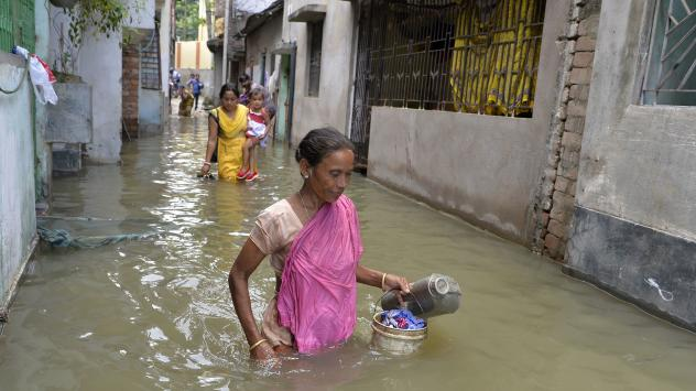 Days of heavy rain have left some streets in Mumbai flooded waist-high on Tuesday. India's financial capital has been brought to a virtual standstill by the widespread floods, and more rain is in the forecast.