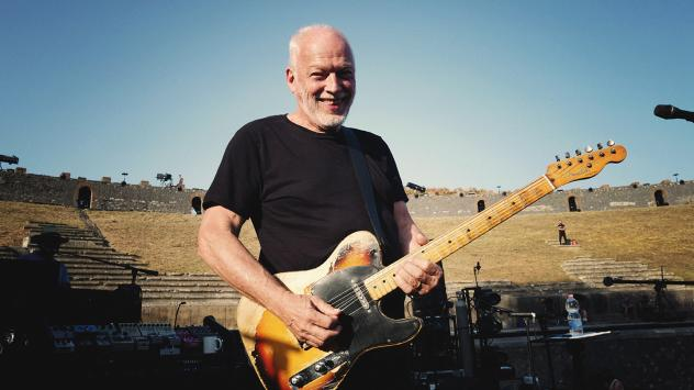 David Gilmour standing inside the amphiteatre in Pompeii for the first time since Pink Floyd recorded a concert film there in 1971.