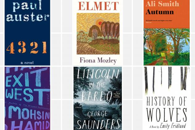 The 2017 Man Booker nominees are Paul Auster's <em>4 3 2 1,</em> Fiona Mozley's <em>Elmet,</em> Ali Smith's <em>Autumn,</em> Emily Fridlund's <em>History of Wolves,</em> George Saunders' <em>Lincoln in the Bardo,</em> and Mohsin Hamid's <em>Exit West</em