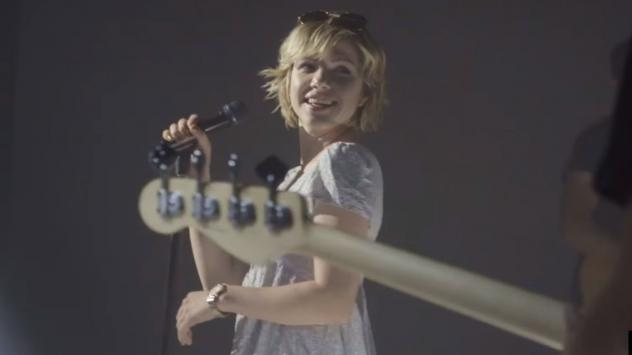 """A still from Carly Rae Jepsen's """"Cut To The Feeling"""" video."""