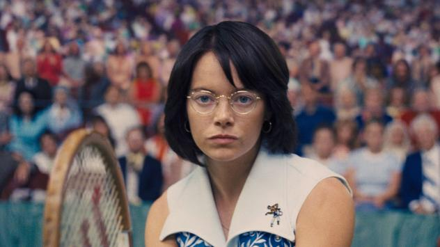 Emma Stone stars as the famous professional tennis player and gender equality activist, Billie Jean King, in <em>Battle of the Sexes.</em>