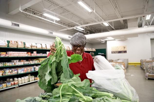 Dorothy Boddie runs the outreach ministry at Allen Chapel AME, one of the Capital Area Food Bank's nonprofit partners. The D.C.-area food bank is part of a growing trend to move toward healthier options in food assistance, because many in the population